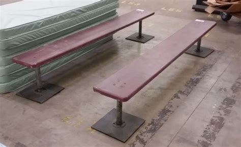detention bench prison benches police booking benches miami prop rental