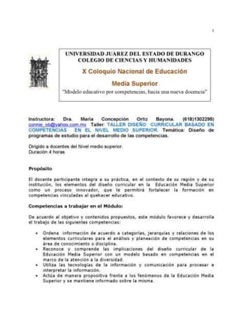 Diseño Curricular Dominicano Nivel Medio Documento Taller Dise 209 O Curricular Basado En Competencias En El Nivel Medio Superior Grupos