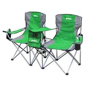 new 2 person folding cing chair pit seat green