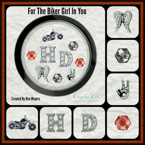 Origami Owl Motorcycle Charm - for the biker motorcycle charm harley