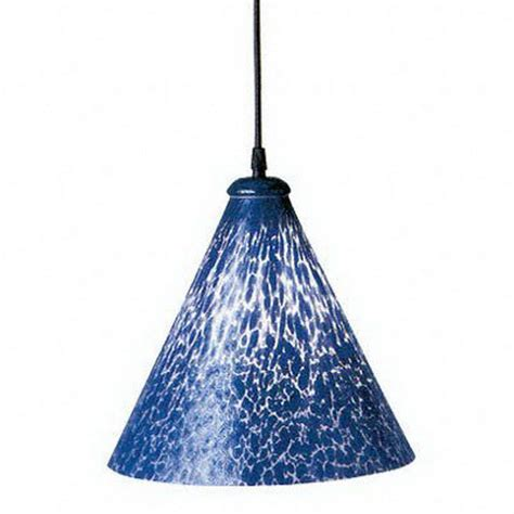 Blue Pendant Light Shop Plc Lighting Rioi 10 25 In W Cobalt Blue Black Mini