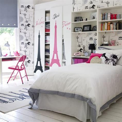 chic city theme teenage girls bedroom ideas