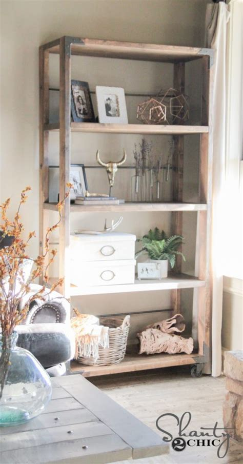 diy industrial cart bookcase shanty2chic bloglovin