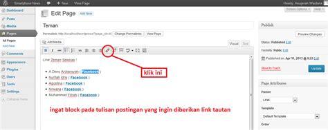 tutorial wordpress di xp tutorial cara menambahkan tautan link dalam postingan di