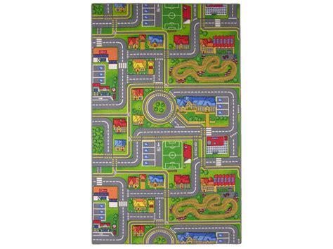 tapis chambre gar輟n voiture tapis enfant 100x165 cm playcity vente de tapis enfant