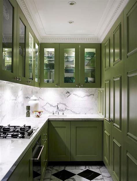 kitchens with green cabinets kitchen cabinets the 9 most popular colors to from