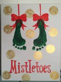 best 25 mistletoe footprint ideas on pinterest