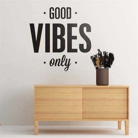 Wall Phrases Stickers good vibes only moonwallstickers com