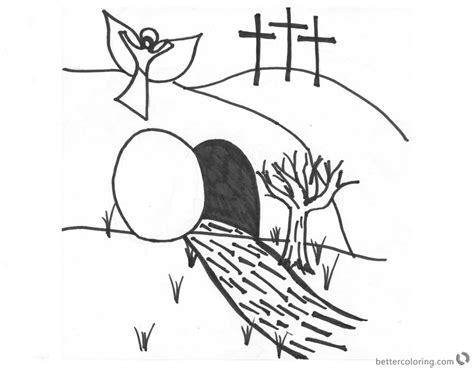 he is risen coloring page he is risen coloring pages above the empty