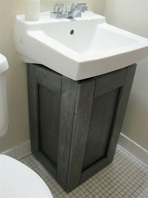 pedestal sink plumbing hide the project lady fake wood cabinet to hide ugly pipes