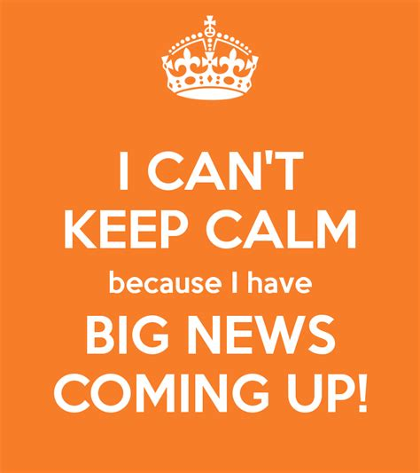 Time To Announce The Big News by Big News Is Coming Ken S Kreations
