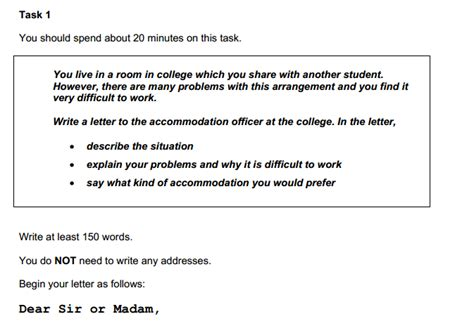 Request Letter Sle Ielts How To Write The Task 1 Letter For General Ielts Your Ielts Tutor