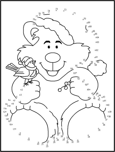 christmas jigsaw dot to dots sheet for kids dot to dot printables coloring home