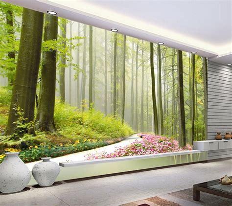 Bedroom Landscape Aliexpress Buy Custom Landscape Wallpaper Green