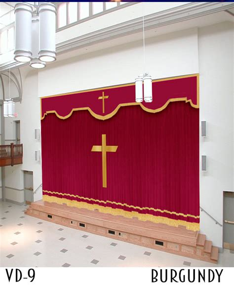 church drapery design brown church curtain design