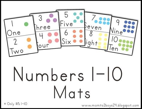 number mats printable numbers counting patterns math