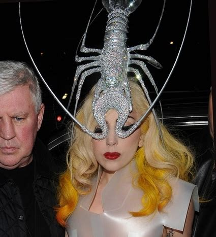 lady gaga steps out in lobster hat
