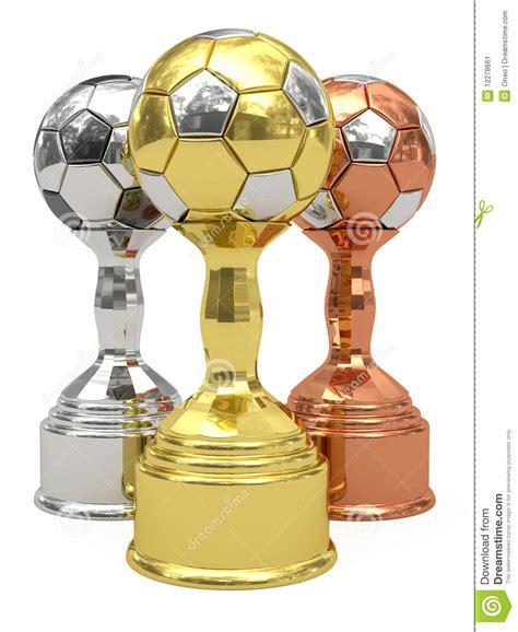 imagenes de trofeos vulgares trofeos de oro de plata y de bronce del f 250 tbol imagen de