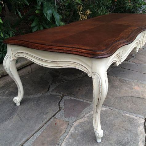 Available French Provincial Solid Wood Long Coffee How To Refinish A Coffee Table Top