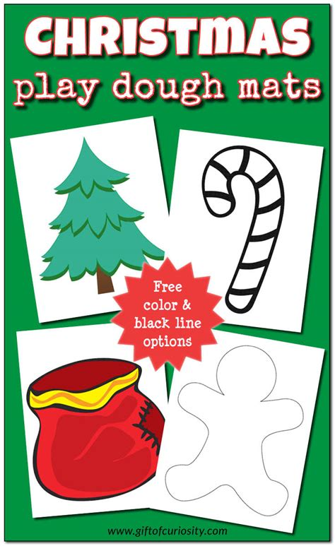 christmas play dough mats free printable gift of curiosity