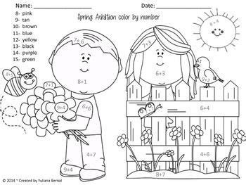 spring coloring pages in spanish addition spring time color by number sheet free in
