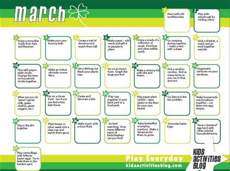 kindergarten themes for march calendar toddler preschool activities and kid activities