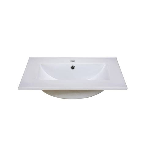 pegasus 25 in marble vanity top in crema marfil with
