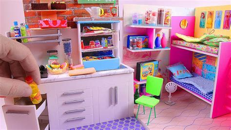 5 room dollhouse 5 diy miniature dollhouse rooms kitchen bunk bed
