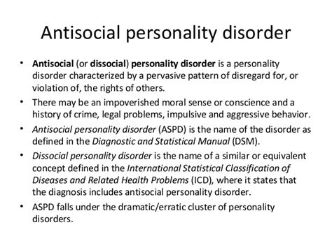 anti social personality disorder antisocial personality disorder at health autos post