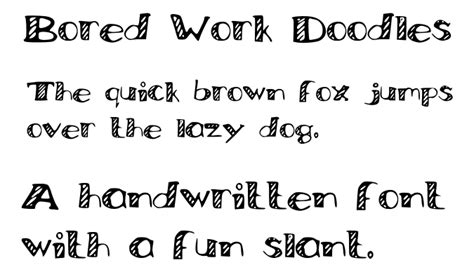 best free doodle fonts bored work doodles font dafont
