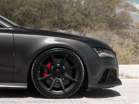 matt black audi rs7 on matt black audi rs7 on velgen wheels