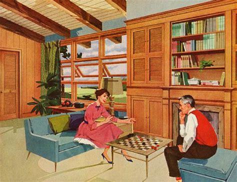 1950s house interior 1950 s paneled suburban interior mid century modern