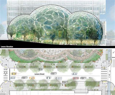 New Construction House Plans amazon biosphere retailer gets glass dome headquarters