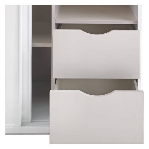 top 30 of 2 door wardrobe with drawers and shelves