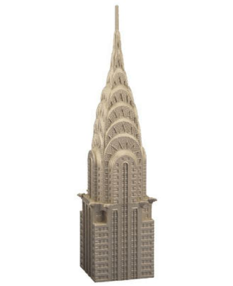 Chrysler Building Replica by Chrysler Building Pewter Replica Bruce Fox Detailed