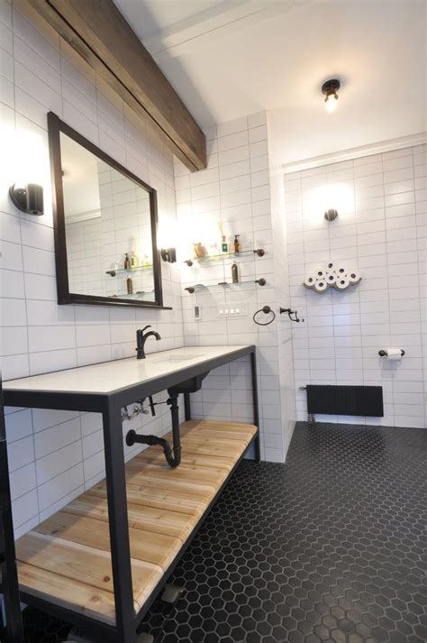 bathroom bathroom industrial with industrial vanity