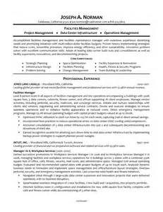 Building Maintenance Manager Sle Resume by Animal Facility Manager Cover Letter