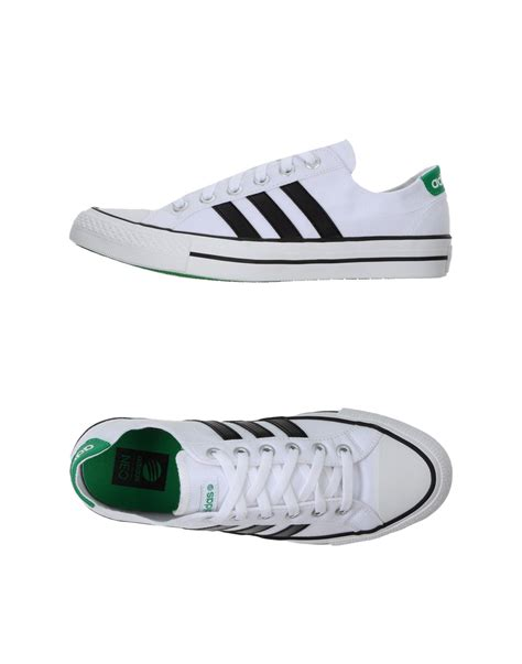 adidas neo low tops trainers in white for lyst