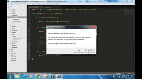 tutorial codeigniter video codeigniter tutorial for beginners youtube
