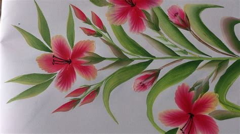 stroke painting decorative floral painting