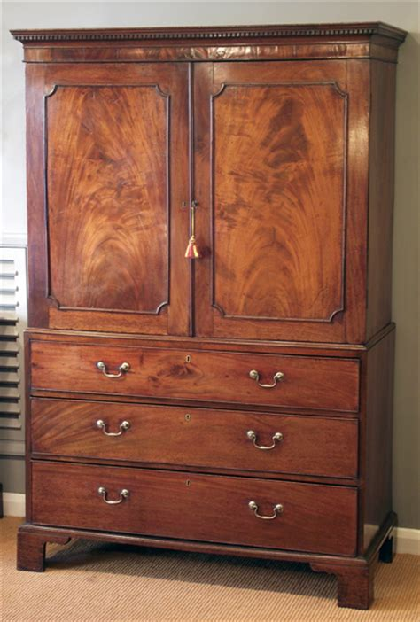 Press Or Cupboard Antique Mahogany Linen Press Georgian Wardrobe Antique