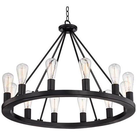 Black Circle Chandelier 30 Inch Wide Black Chandelier Look For Less