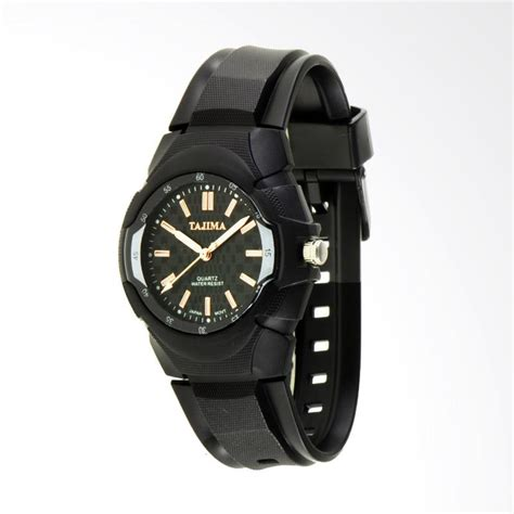 Jam Tangan Pria Kuning Emas jual tajima analog rubber jam tangan pria emas 2737 ga 01 harga kualitas