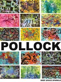 First grade kids read the book action jackson then create a pollock