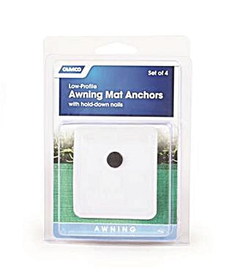 rv awning anchors camco 45631 rv awning mat anchors 4 pack