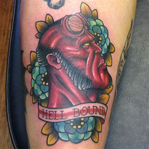 hellboy tattoo hellboy by gooneytoonstattoo on deviantart