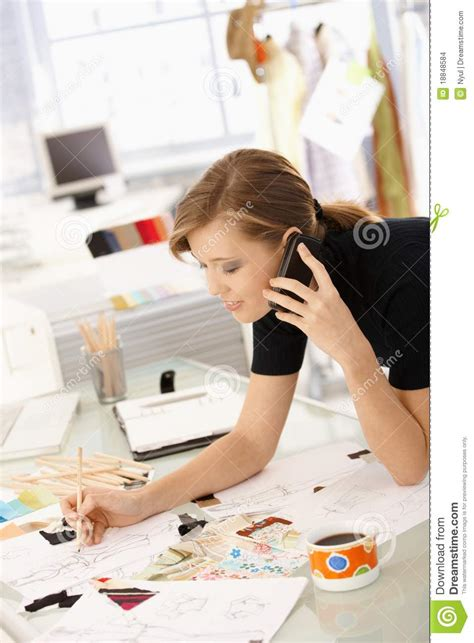 fashion designer at work stock photo image of caucasian