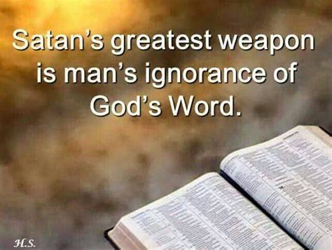 satan it when are ignorant of god s word