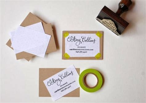 Handmade Ideas For Business - 60 diy business cards design your own business cards