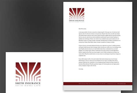 Insurance Letterhead Letterhead Template For Insurance Insurance Agency Order Custom Letterhead Design